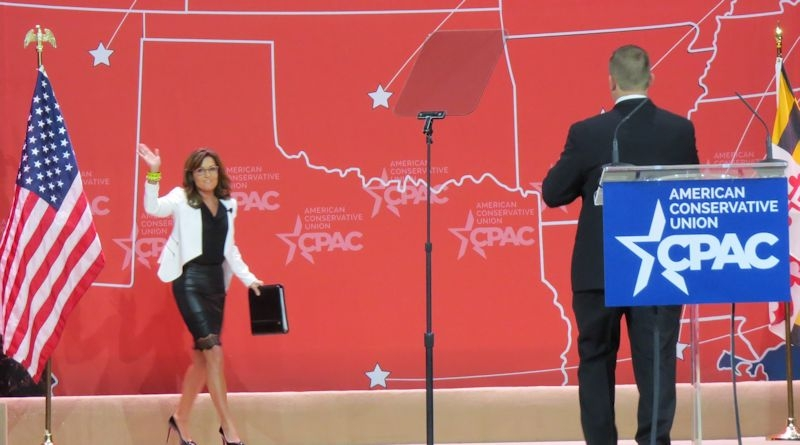 Sarah Palin takes the stage at CPAC