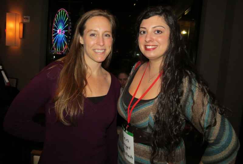 Ericka Andersen & Alexa Combs hang out at Blog Bash