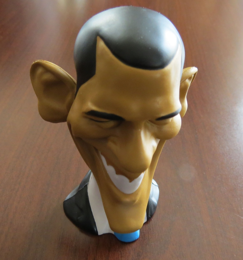 The Weekly Standard was giving away Obama stress balls in the vendor area