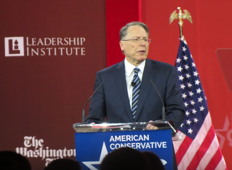 Wayne LaPierre speaks at CPAC