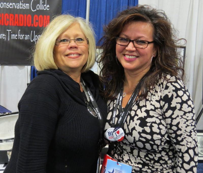Gerri McDaniel and Big Dawg Music's (they do good work!) Lisa Mei Norton in the vendor area