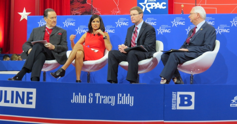 Cal Thomas, Dana Loesch, Tony Perkins and Representative Randy Neugebauer talk social issues on the main stage