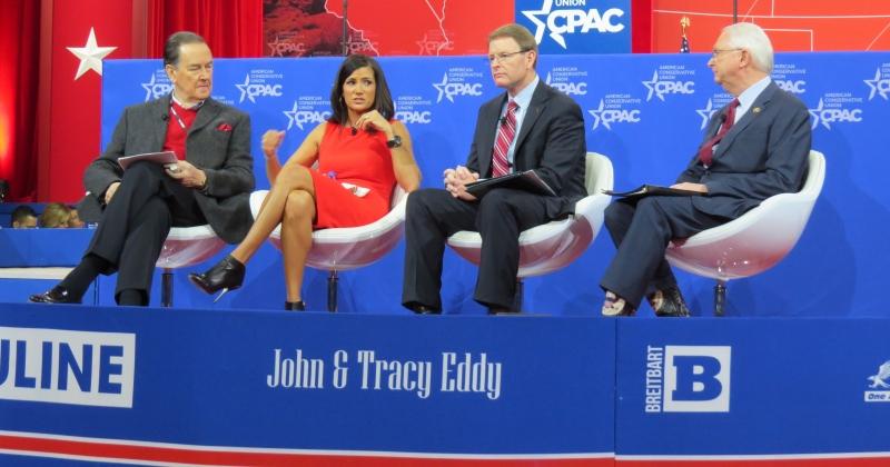 Cal Thomas, Dana Loesch, Tony Perkins and Representative Randy Neugebauer talk social issues on the main stage