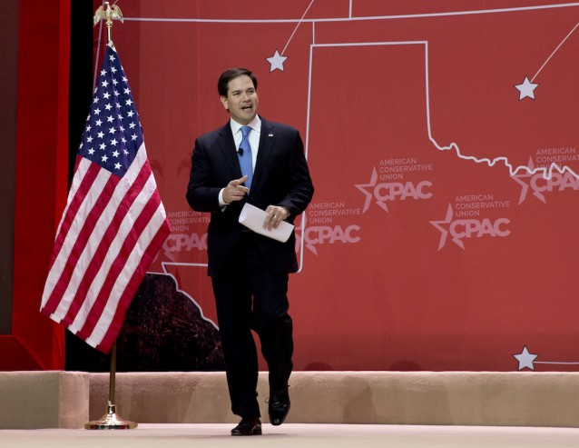 Marco Rubio takes the stage at CPAC