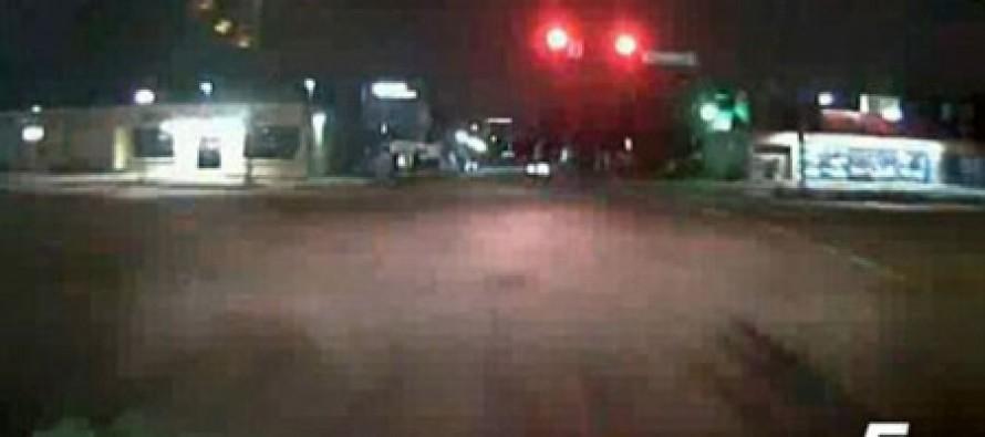 Caught on camera: Suspect carjacks ambulance at knifepoint, goes on high-speed joyride