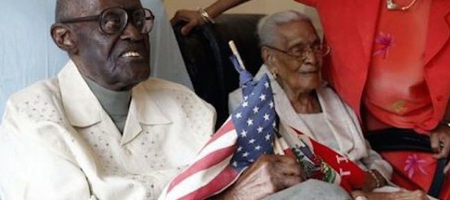 Husband & wife celebrate 82 years of marriage