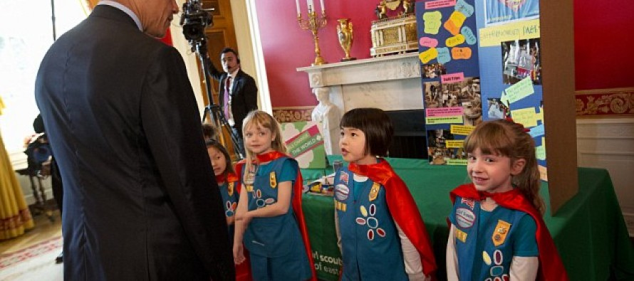 'What Have I Come Up With? Health Care': Obama Boasts to Six-Year-Old Inventors At White House Science Fair