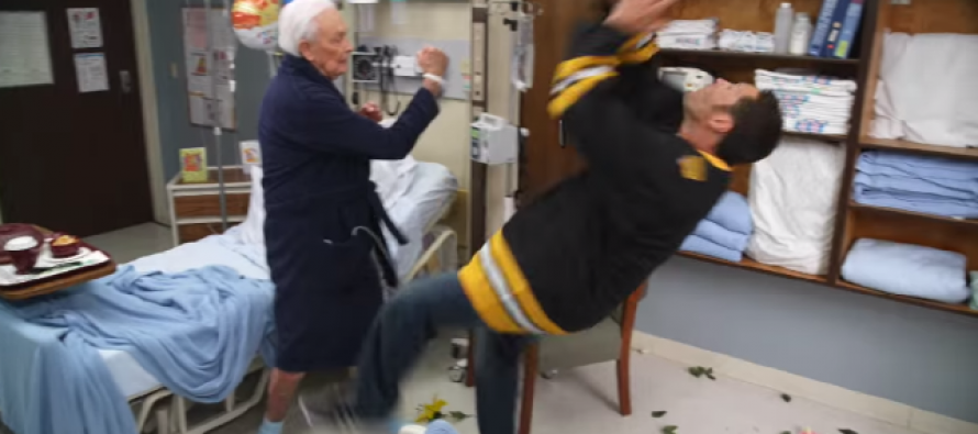 VIDEO: Adam Sandler and Bob Barker Continue Their 'Happy Gilmore' Brawl For a Good Cause