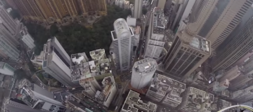 VIDEO: POV Clip Of Climber Scaling Hong Kong Tower Will Make Your Heart Pound