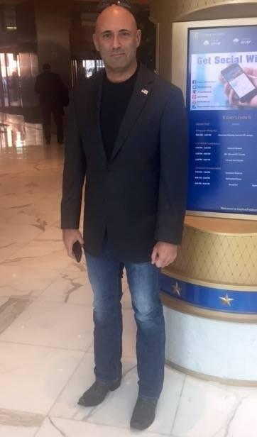 Best dressed Steve Gerber in John Varvatos blazer, and casual designer jeans
