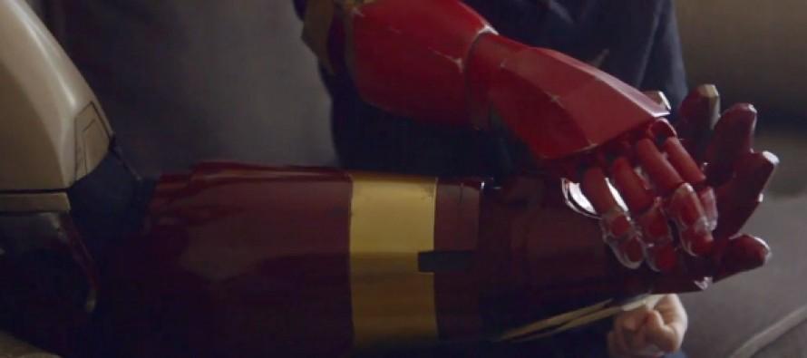 "VIDEO: Robert Downey Jr. Gives Boy an ""Iron Man"" Prosthetic Arm"
