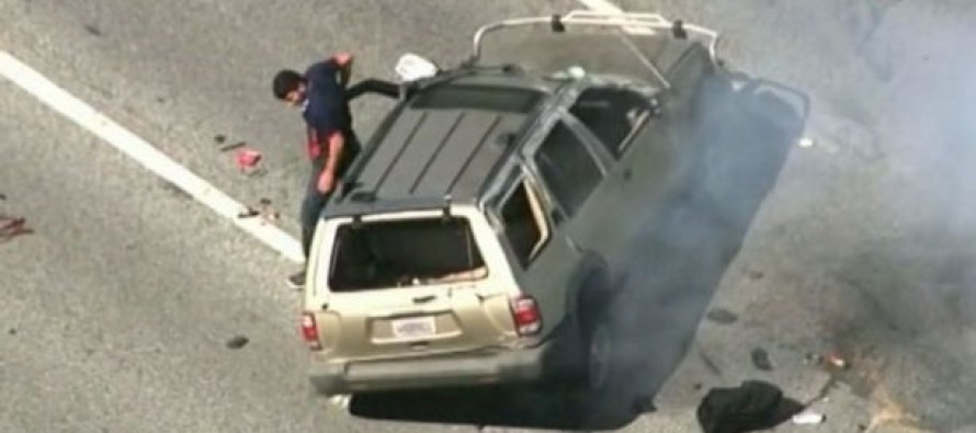 VIDEO: Watch as This Dramatic Police Chase Ends in a Car Flip