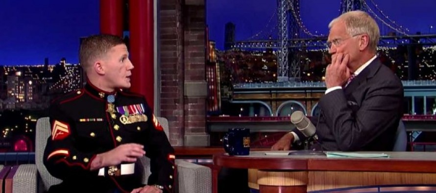 VIDEO: When David Letterman Read a List of This Marine's Injuries, His Response Left the Whole Room Silent