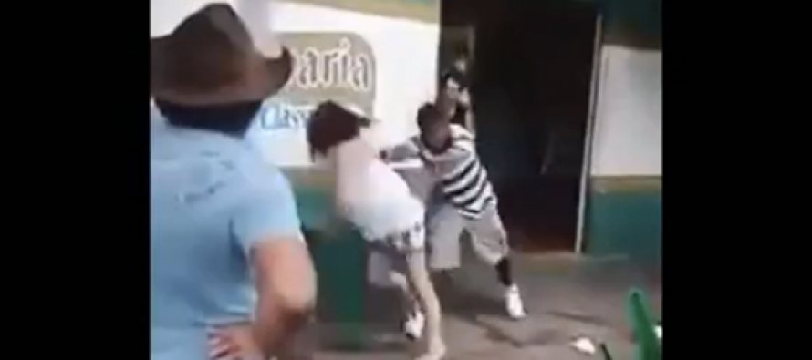 VIDEO: After Jerk Pushes Woman Into Table, Three Women Pummel Him