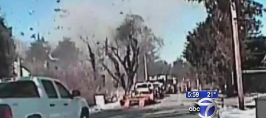 Dashcam captures a NJ house exploding into a million pieces