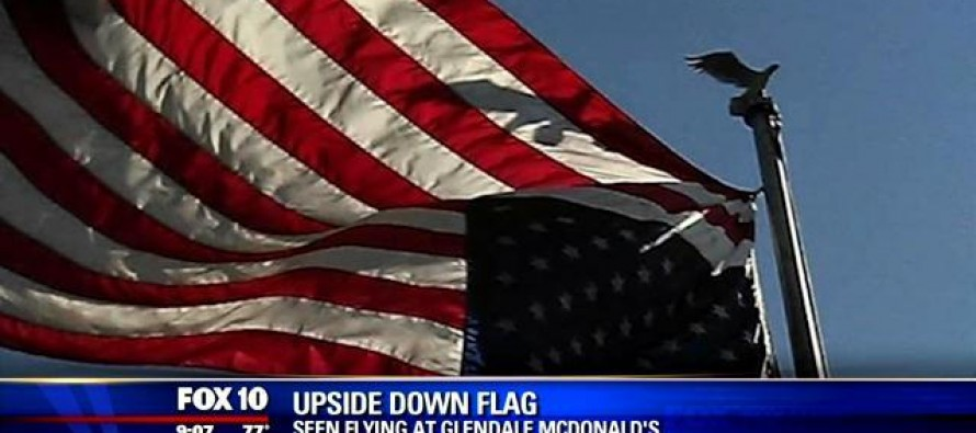 A Marine Sees an Upside Down Flag and Decides to Do Something About It