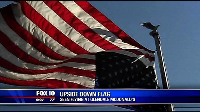 upside down flag