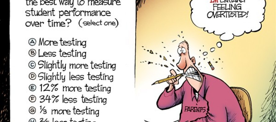 Testing Stress (Cartoon)