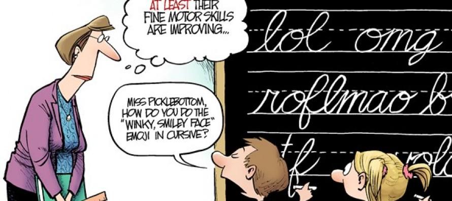 LOCAL OH – Requiring Cursive (Cartoon)