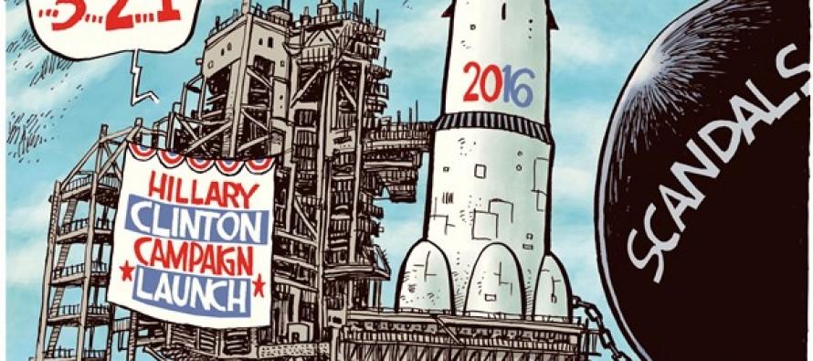 Hillary Launch (Cartoon)