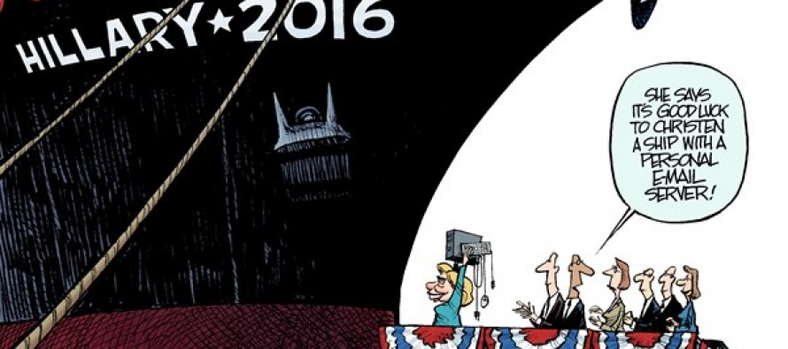 Launching Hillary (Cartoon)