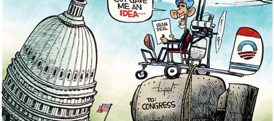 Obama Gyrocopter (Cartoon)