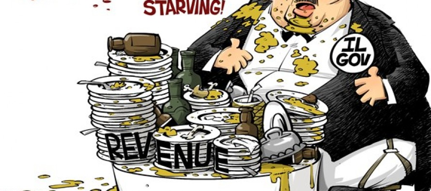 Hungry government (Cartoon)