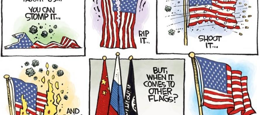 Flag Stepped On (Cartoon)