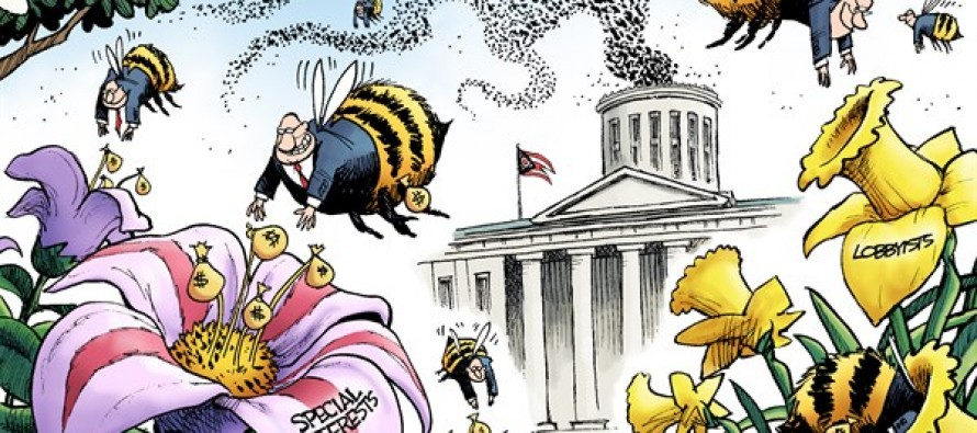 LOCAL OH – Statehouse Beehive (Cartoon)