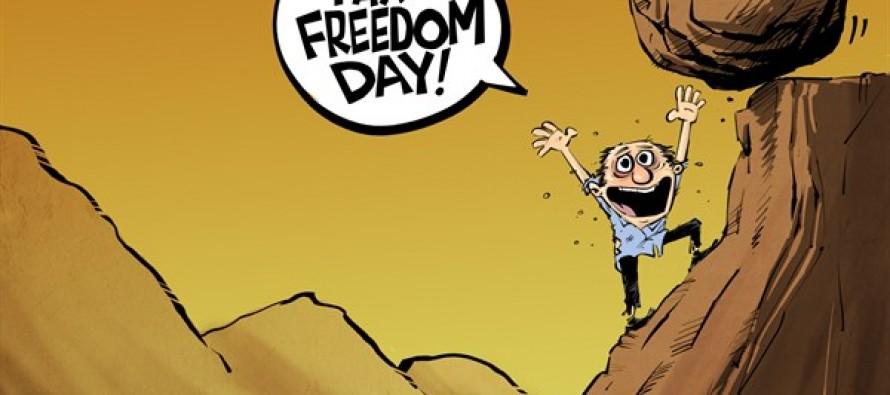 Tax freedom day (Cartoon)