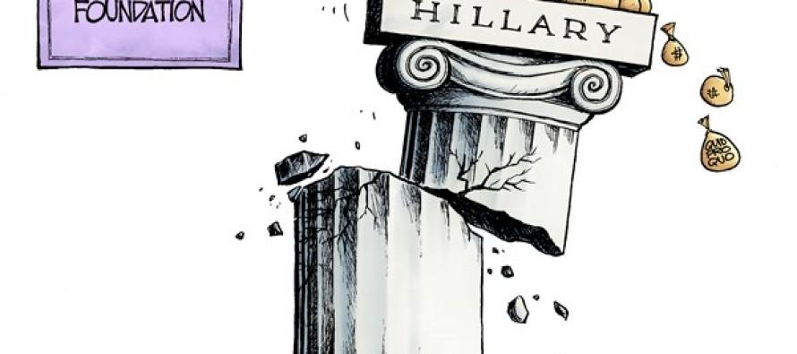 Crumbling Clinton (Cartoon)