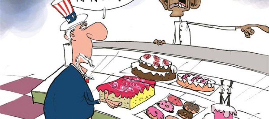 Biased Baker Obama (Cartoon)