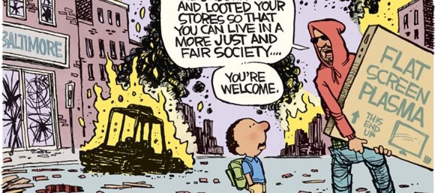 Baltimore Riots (Cartoon)
