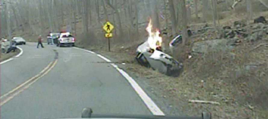 Dramatic VIDEO Footage: NJ Cops Rescue Woman From Car Moments Before It Bursts Into Flames