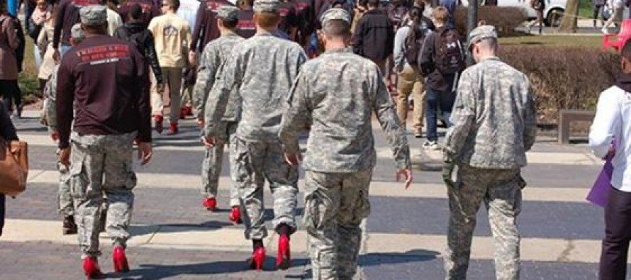RIDICULOUS! Army ROTC pressured male cadets to walk in high heels for 'awareness of sexual violence against women'