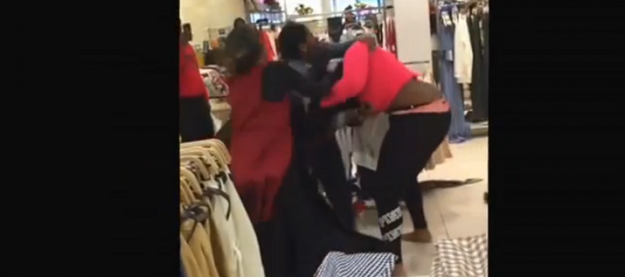 Huge brawl in the aisles of Philadelphia Zara store caught on camera