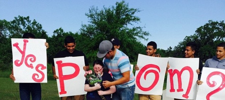 VIDEO: Prince Charming moment as high school sophomore with special needs asked to prom by her biggest crush