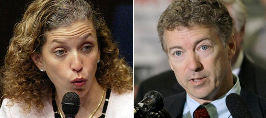 VIDEO: Rand Paul Slams DNC Chair Wasserman Schultz's Full Support for Late Term Abortion- Including STABBING BABY SKULLS