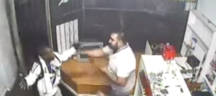 VIDEO: Watch What Happens When Shop Owners Catch a Would-Be Robber