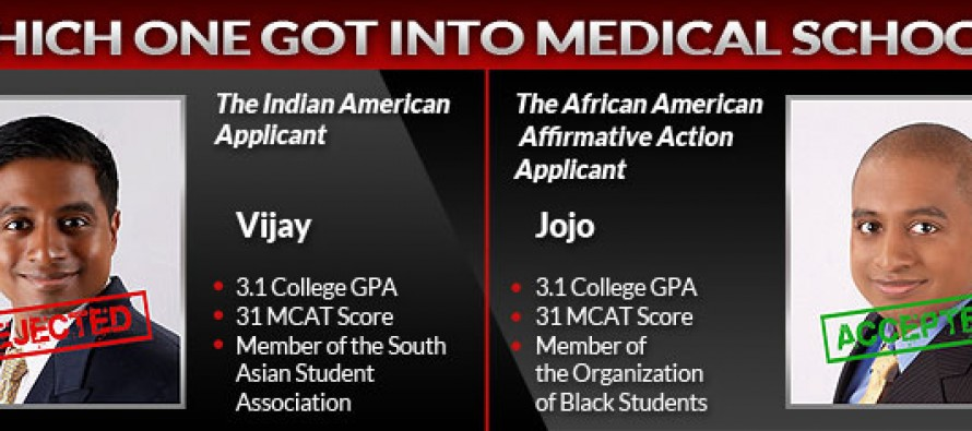 LIBERALS LIVID: Indian-American With Sub-Par Grades is Rejected by Med School, But Reapplies as a Black Guy and Boom! He's In