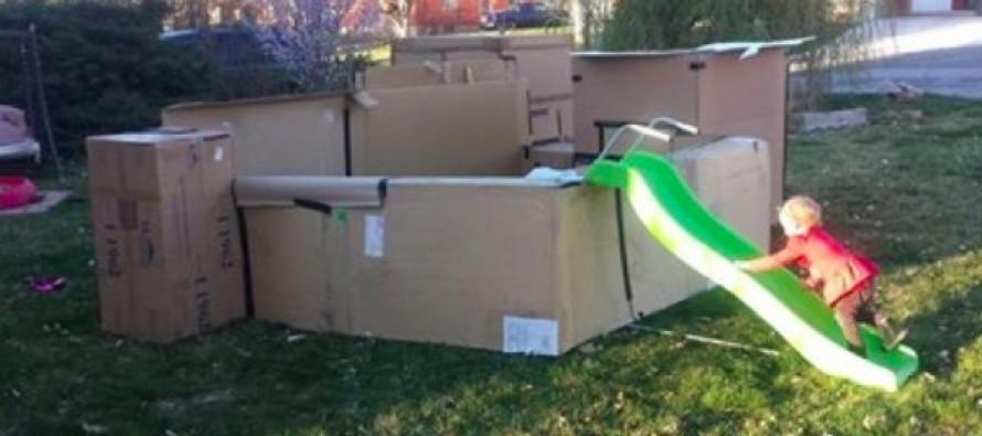 'Completely Awesome' Cardboard Fort Is a Hit in the Neighborhood. But Ogden's City Code Enforcement Doesn't Want to Play.