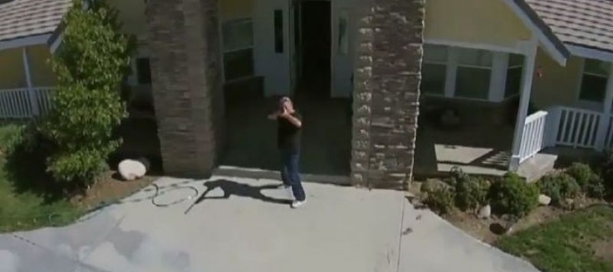 Homeowner grabs gun after spotting drone on his property