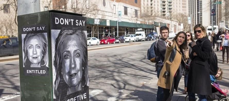 [VIDEO] #WhyImNotVotingForHillary Hits Social Media as Anti-Hillary Clinton Street Art Appears in Brooklyn