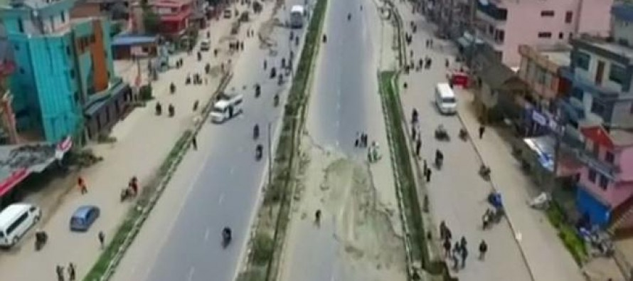 VIDEO: Incredible Drone Footage Shows the Shocking Extent of Destruction Across Kathmandu After the City was Devastated by Huge Earthquake