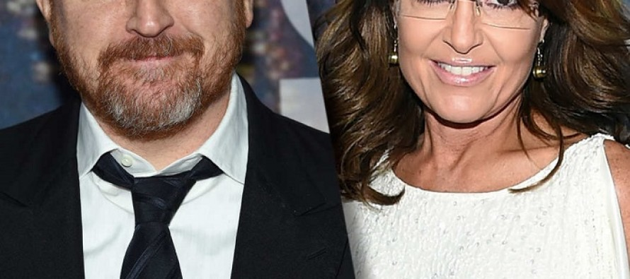 Years After His Infamous Sarah Palin Tweets, Comedian Louis C.K. Says He Ran Into Her, and Did Something He's Never Done Before