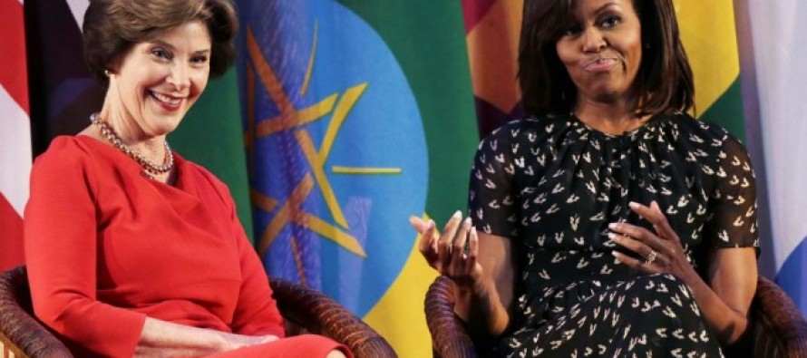 [VIDEO] Michelle Needs Money for Being First Lady, Says Barack.  Here's What Laura Bush Says