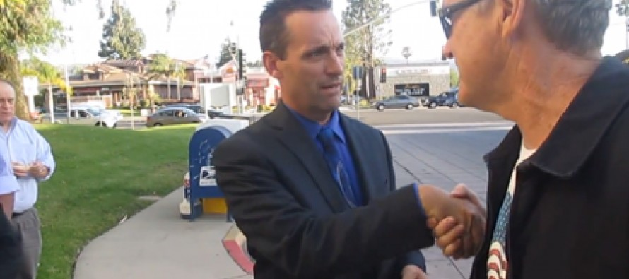 California Congressman to protester: 'If you touch me again, I'll drop your ass'