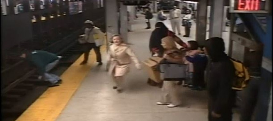 Good Samaritan Leaps Onto Train Tracks To Save Fellow Passenger Who Fell Off The Platform