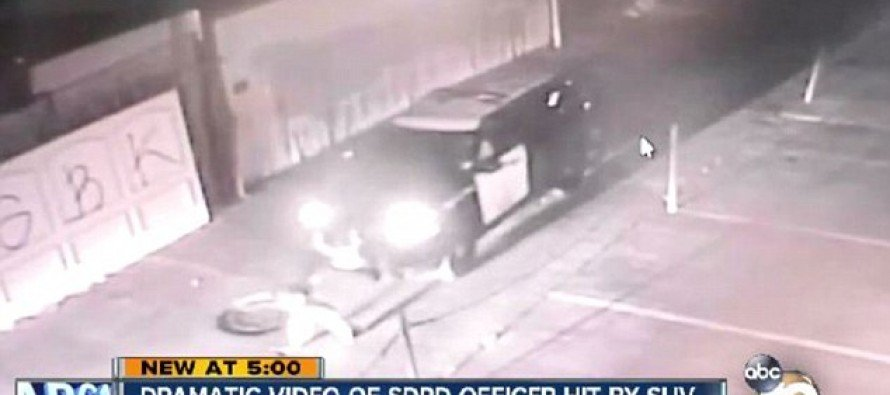 Video Shows San Diego Police Officer Being Run Over By His Own Car