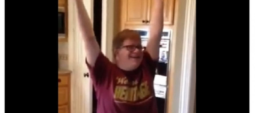 WATCH: Teen With Down Syndrome Gets His First Job, His Reaction Will Make Your Day